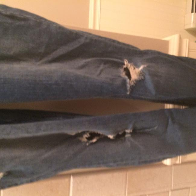 Hollister Stretch Straight Leg Skinny Jeans-Distressed