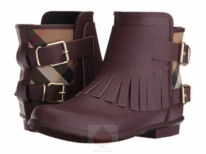 Burberry Oxblood Boots