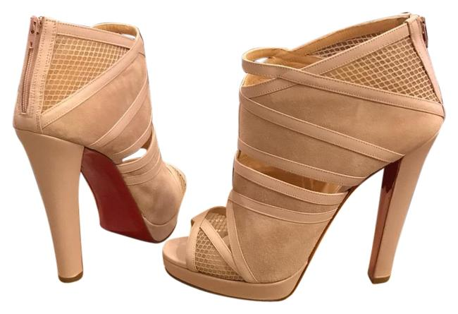 Christian Louboutin Nude Commandanta 120 Platforms Size US 11 Regular (M, B) Christian Louboutin Nude Commandanta 120 Platforms Size US 11 Regular (M, B) Image 1