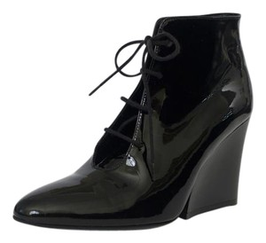 Robert Clergerie Patent Leather Black Boots
