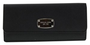 Michael Kors Michael Kors Jet Set Travel Flat Wallet Black Saffiano Leather