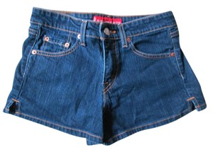 Levi's Dark Wash Stretch Denim Mini/Short Shorts Blue