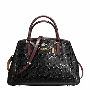 Coach Brown Signature Crossbody Satchel in Black Oxblood