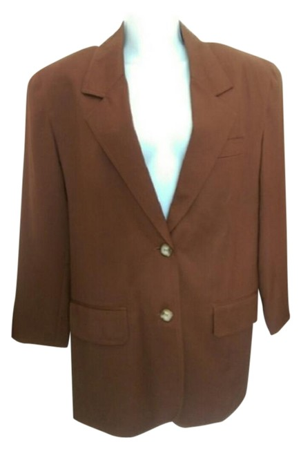 Preload https://img-static.tradesy.com/item/19753114/brown-limited-edition-blazer-size-6-s-0-3-650-650.jpg