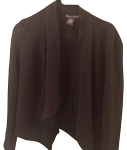 Chelsea & Theodore Suit Sweater Jacket Button Black Blazer