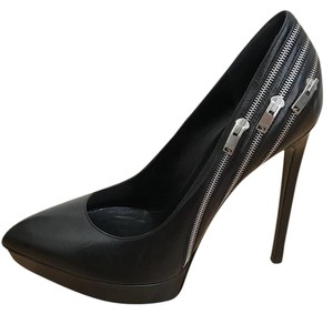 Saint Laurent Zipper Party Black Pumps