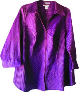 dressbarn Button Down Shirt purple