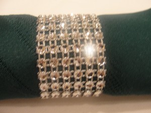 Silver 150 Rhinestone Style Napkin Rings Reception Decoration