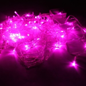 String Of 130 Pink Led Lights. Approx 10 Feet