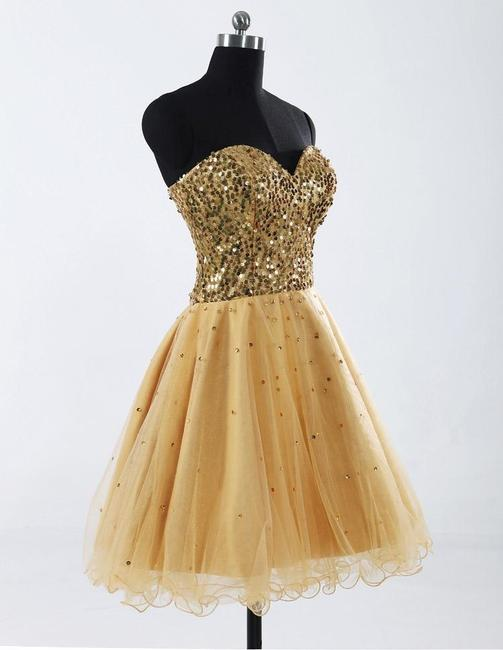 Other Prom Sweetheart Sequin Rhinestones Chiffon Satin Pretty Wedding Bridesmaid Flirty Party Flowy Lace-up Lace Back Beaded Dress