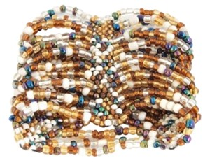 TLC Beaded Cuff Stretch Bracelet - Natural/Multi (Brand New)