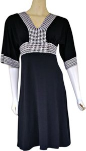 Donna Morgan short dress Black Blak Slinky Kimono Sleeves on Tradesy