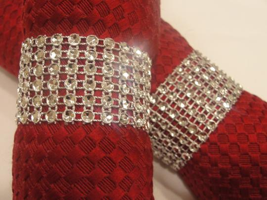 Silver 125 Bling Rhinestone Style Napkin Rings (6 Rows) / Quniceanera / Baby Shower Reception Decoration