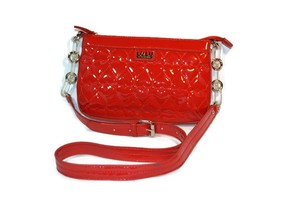 Lulu Guinness Hearts Patent Shiny Cross Body Bag