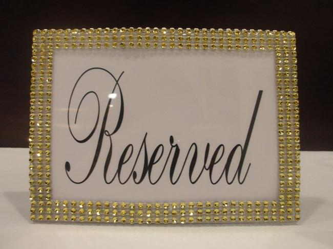 Gold Three Bling Rhinestone Style Table Sign Frame / Quinceanera / Shower Party Reception Decoration Gold Three Bling Rhinestone Style Table Sign Frame / Quinceanera / Shower Party Reception Decoration Image 1