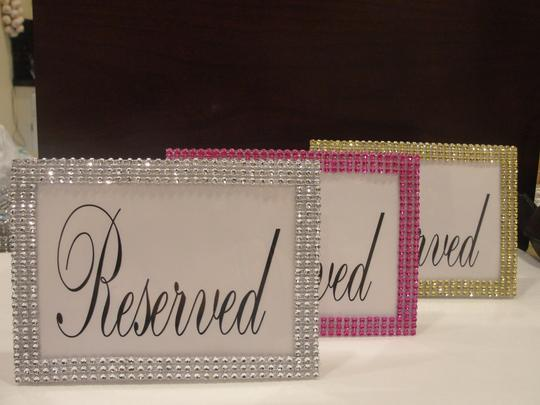 Silver Three Bling Rhinestone Style Table Sign / Quinceanera / Shower Party Reception Decoration