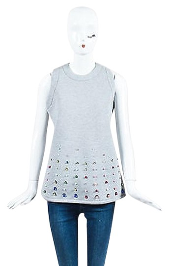 new Koche Heather Gray Cotton Bead Sequin Embellished Sl Shell Top #19753941 -