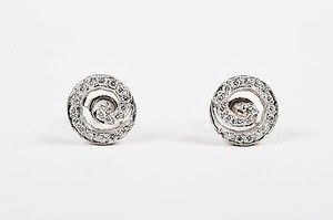 Cathy Waterman Cathy Waterman Platinum Diamond Embellished Swirl Stud Earrings