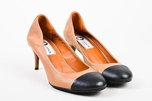 Lanvin Mastic Black Brown Pumps
