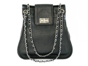 Chanel Leather Chain Link New Shoulder Bag