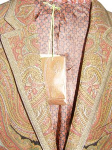 Etro Italy Mens Nwt Paisley-Red and Black Blazer