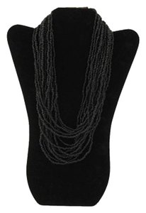 TLC Beaded Tiered Necklace - Black (Brand New)