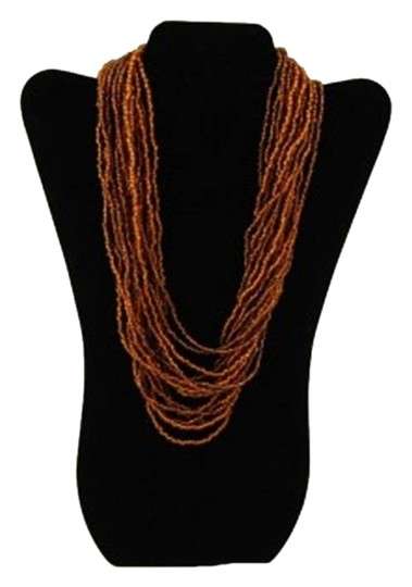 TLC Beaded Tiered Necklace - Bronze (Brand New)