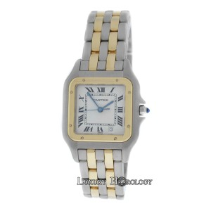 Cartier Mint Ladies Midsize 26MM Cartier Panthere 187949 Two Row 18K Gold