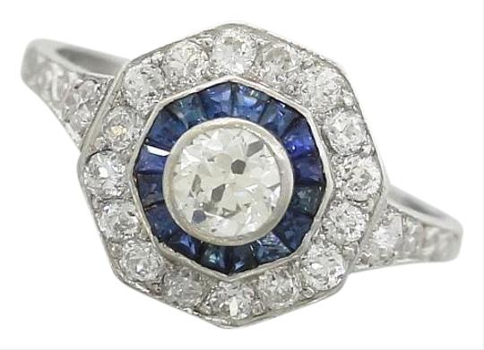 Preload https://img-static.tradesy.com/item/19754718/platinum-ladies-antique-art-deco-diamond-sapphire-engagement-egl-ring-0-2-540-540.jpg
