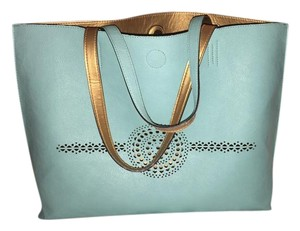 Merona Tote in Teal and Gold