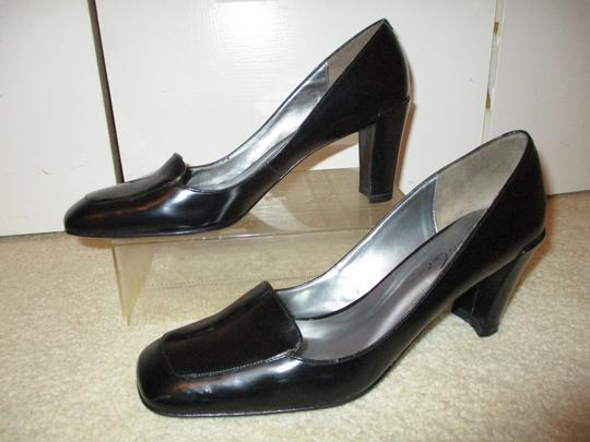 Kenneth Cole Square Toe Leather black Pumps