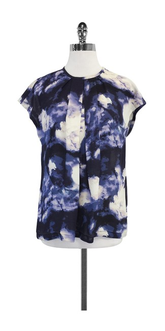 Preload https://img-static.tradesy.com/item/19754759/kate-spade-blue-and-cream-abstract-print-shirt-blouse-size-4-s-0-0-650-650.jpg