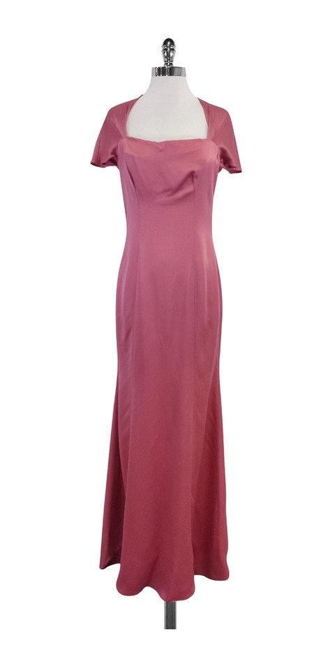 Moschino Pink Cap Sleeve Gown Long Casual Maxi Dress Size 8 M