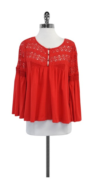 Preload https://img-static.tradesy.com/item/19754763/plenty-by-tracy-reese-red-eyelet-cotton-shirt-blouse-size-12-l-0-0-650-650.jpg
