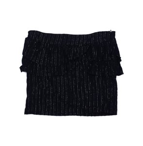 Trina Turk Black Silver Pinstriped Mini Mini Skirt