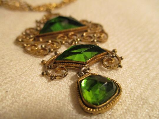 Other Antique filigree with emerald green stones