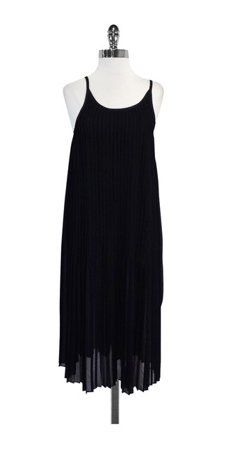 Preload https://img-static.tradesy.com/item/19754811/black-pleated-spaghetti-strap-high-low-formal-dress-size-8-m-0-0-650-650.jpg