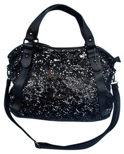 Big Buddha Sequins Tote in Black & Silver