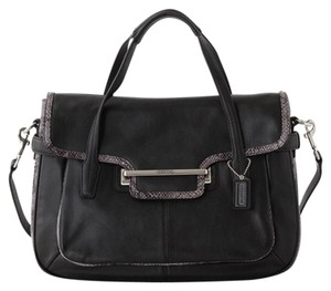 Coach Taylor Work Leather Satchel in Black