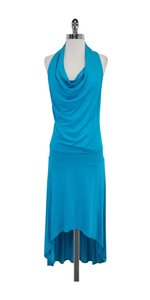 Maxi Dress by Trina Turk Turquoise High Low Maxi