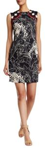 Nicole Miller short dress BLACK MULTI Shift Sleeveless Print on Tradesy
