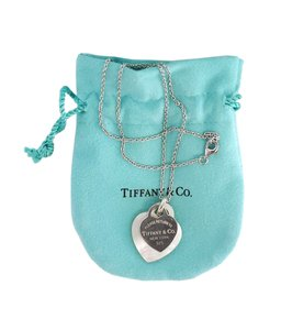 Tiffany & Co. Silver & Mother of Pearl Hearts Necklace