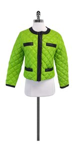 Moschino Lime Green Quilted Jacket