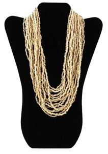 TLC Beaded Tiered Necklace - Natural (Brand New)