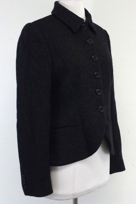 Ralph Lauren Camel Hair Wool Charcoal Jacket
