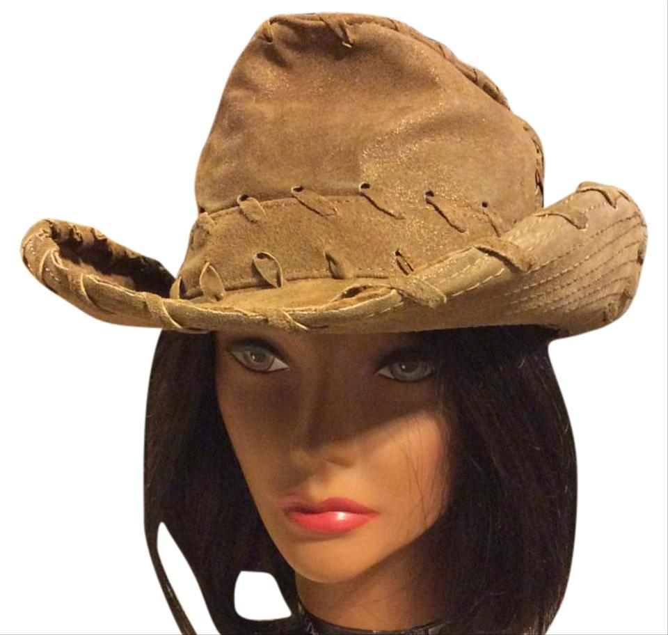 818f5d7f90 Goorin Bros. Metallic Tan Leather Cowboy Hat - Tradesy