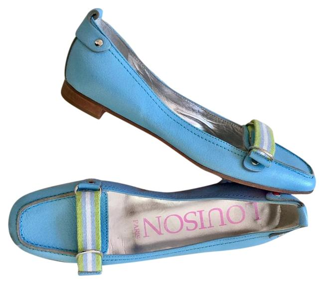 Blue Loafer with Webbing Strap Flats Size EU 38 (Approx. US 8) Regular (M, B) Blue Loafer with Webbing Strap Flats Size EU 38 (Approx. US 8) Regular (M, B) Image 1