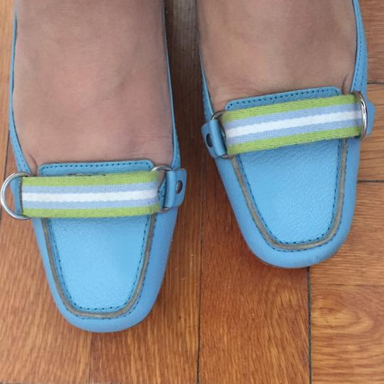 Louison Loafer Webbing Slip On Blue Flats