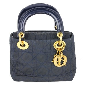 Dior Christian Tote in navy blue