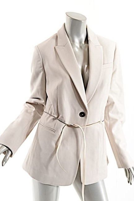 Brunello Cucinelli Wool/Cashmere Belted Wheat Jacket Image 1